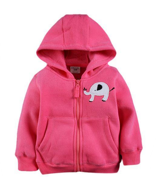 Кофта со слоником, цвет розовый, Little maven, на 4 года