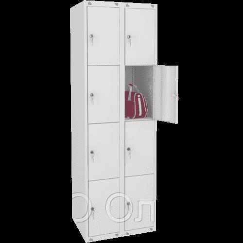 Шкаф металлический для сумок 8 ячеек (600х490х1850) арт. ШМ28