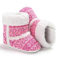 Сапожки теплые , для девочек, на 6-12 мес, цвет розовый