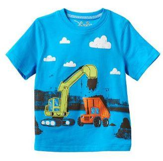 Футболка с трактором, цвет синий