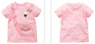 "Футболка ""Фламинго"", цвет розовый на 6 лет"