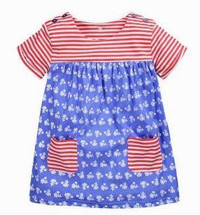 Трикотажное летнее платье, цветное, 2 года, 5 лет