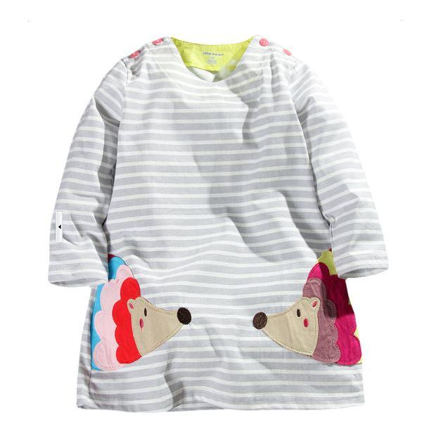 Платье-туника, цвет серый, Little Maven, на 7 лет