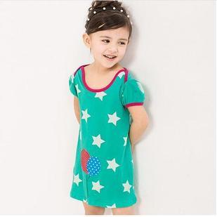 Платье летнее, цвет зеленый звезды