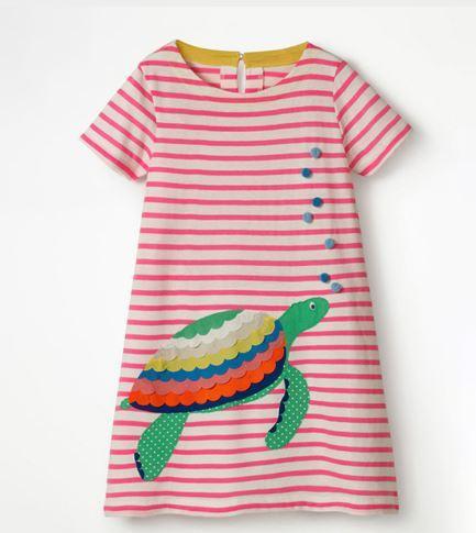 Платье летнее, с черепахой, в полоску