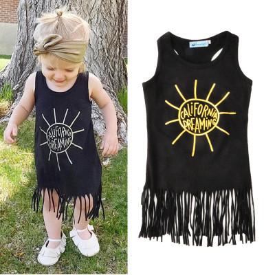 Платье - туника для малышей, черное