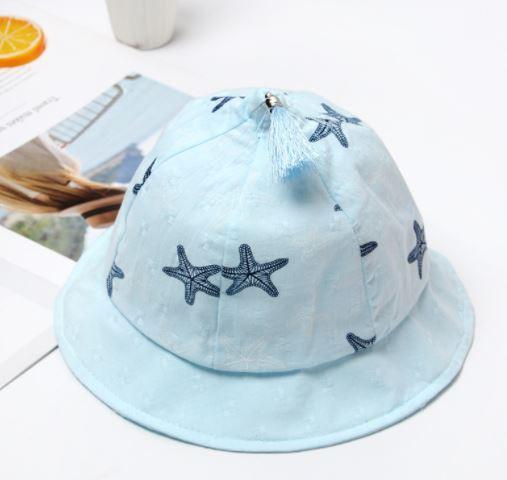 Панамка летняя со звездами, цвет голубой, на 9-18 мес.