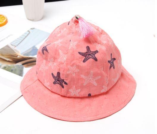 Панамка летняя со звездами, цвет розовый, на 9-18 мес.