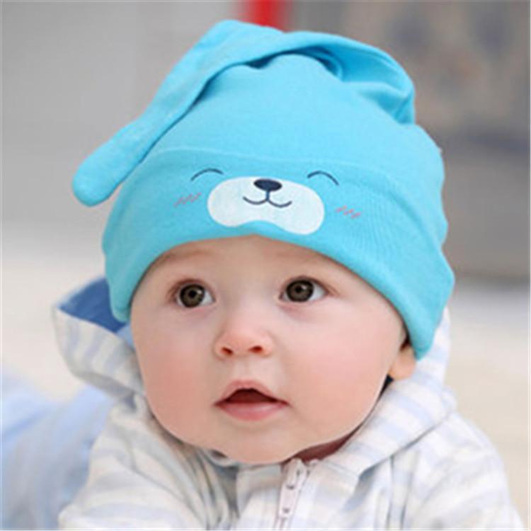 Шапочка для малышей 3-12 месяцев, цвет светло-голубой