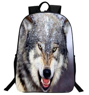"""Рюкзак 3d """"Волк"""", модель №3"""