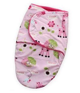 Теплая пеленка-одеяло, со зверятами, цвет розовый