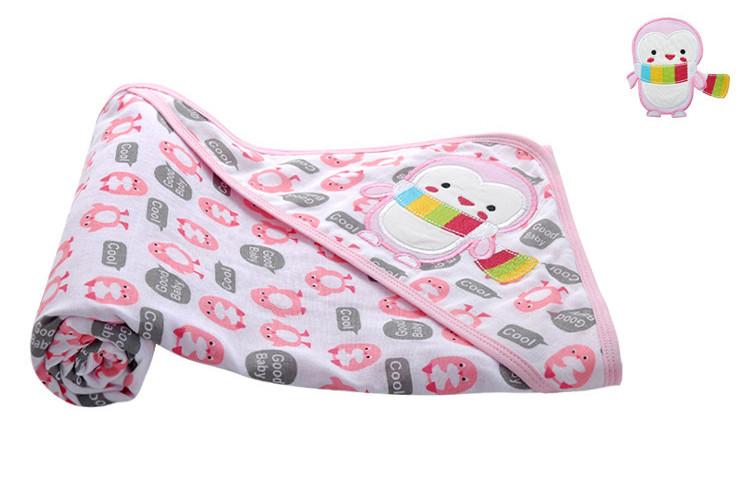 """Плед хлопковый """"Пингвин"""", цвет розовый, Danrol"""