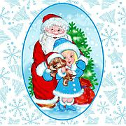 "Салфетки 25х25см, 1 сл., ""Дед Мороз и Снегурочка"", Бумага, 40 шт"