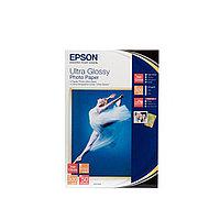 Бумага Epson Ultra Glossy Photo Paper, плотность 300 г/м2 (А6 - 10х15, 50 листов) C13S041943