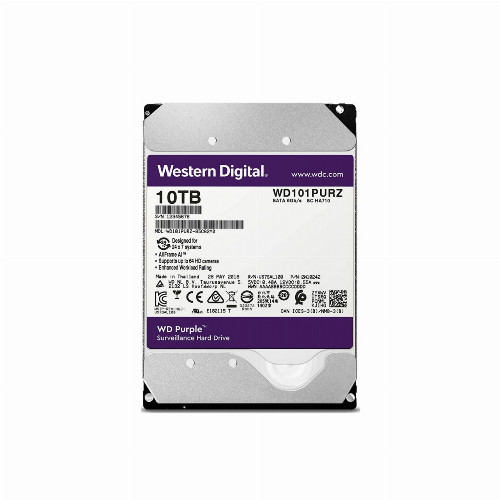 Жесткий диск внутренний Western Digital (WD) Purple (10Тб (10000Гб), HDD, 3,5″, Для видеонаблюдения, SATA)