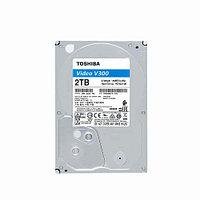 Жесткий диск внутренний Toshiba V300 (2Тб (2000Гб), HDD, 3,5″, Для видеонаблюдения, SATA) HDWU120UZSVA