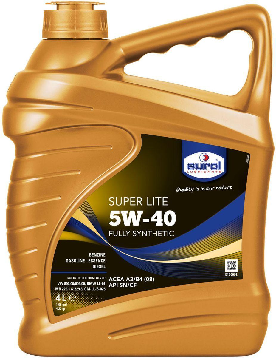 Eurol Super Lite 5W-40 синтетическое моторное масло для бензиновых и дизельных двигателей 4L