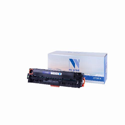 Лазерный картридж NV Print NV-CF381A (Совместимый (дубликат) Голубой - Cyan) NV-CF381AC