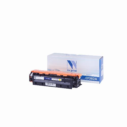 Лазерный картридж NV Print NV-CF382A (Совместимый (дубликат) Желтый - Yellow) NV-CF382AY