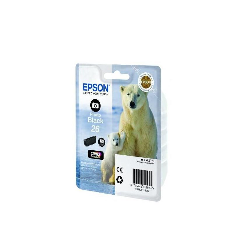 Струйный картридж Epson 26 (Оригинальный, Черный - Photo black) C13T26114012