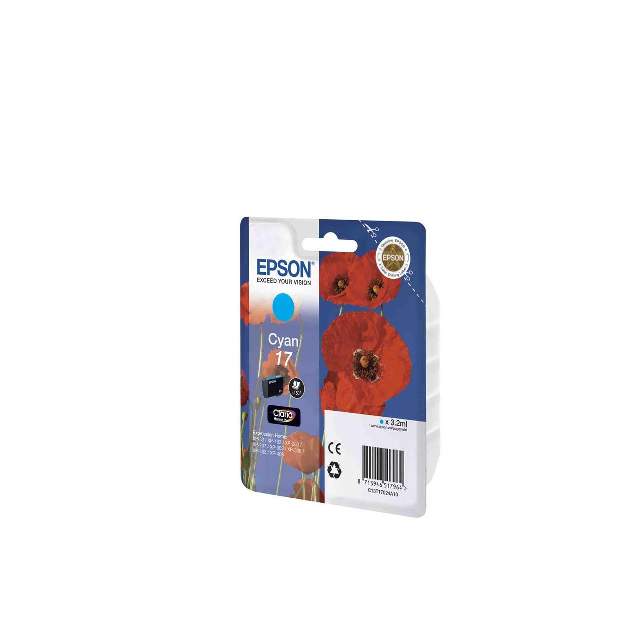 Струйный картридж Epson 17 (Оригинальный, Голубой - Cyan) C13T17024A10