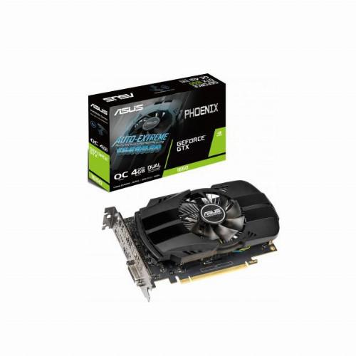 Видеокарта Asus Phoenix GeForce GTX1650 (Nvidia, 4 Гб, GDDR5, 128 бит, PCI-E 3.0 x 16, 1 x DVI-D, 1 x HDMI, 1 x Display port, Без дополнительного