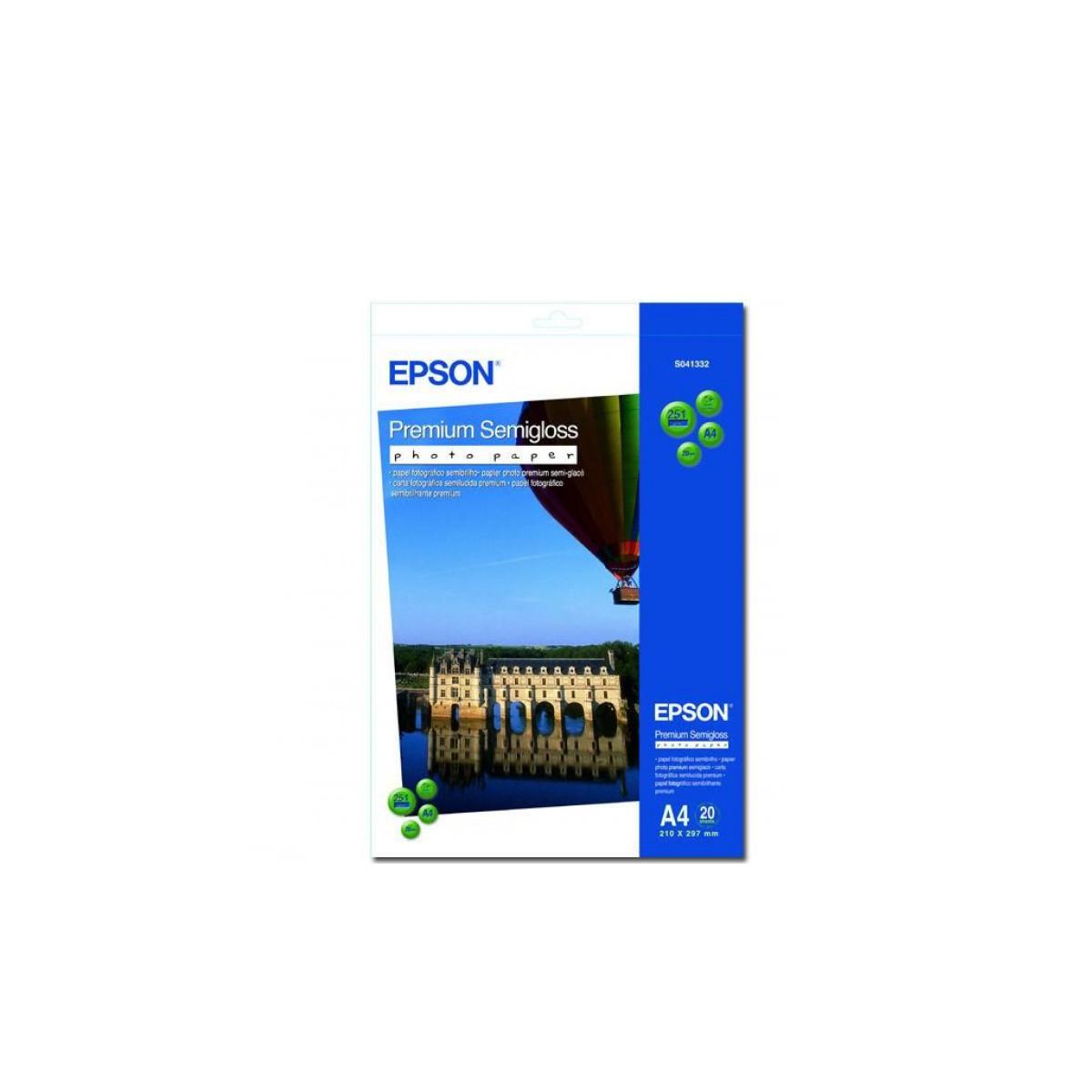 Бумага Epson Premium Semigloss Photo Paper плотность 251 г/м2 (А4 - 20х30 20 листов) C13S041332
