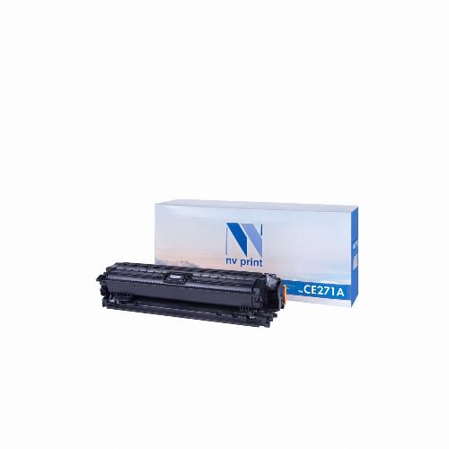 Лазерный картридж NV Print NV-CE271A (Совместимый (дубликат) Голубой - Cyan) NV-CE271AC