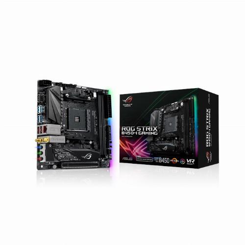 Материнская плата ASRock ROG STRIX B450-I GAMING (Mini-ITX, AM4, AMD B450, 2 x DDR4, 32 Гб) ROG STRIX B450-I GAMING