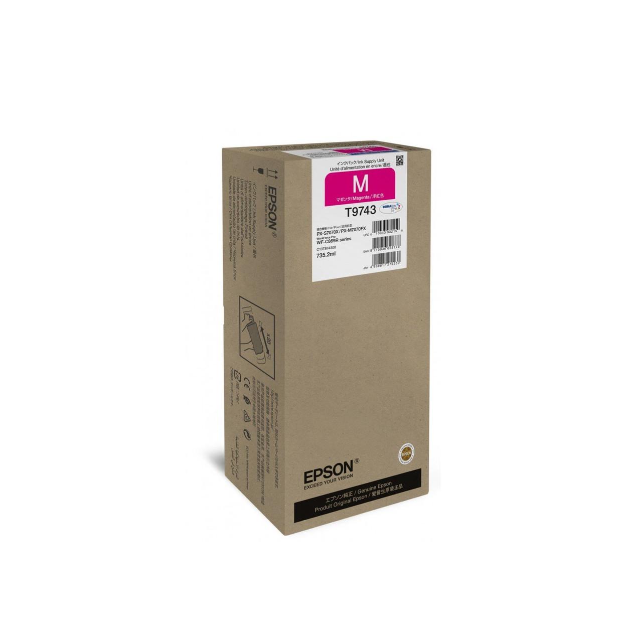 Струйный картридж Epson T9743 (Оригинальный, Пурпурный - Magenta) C13T974300