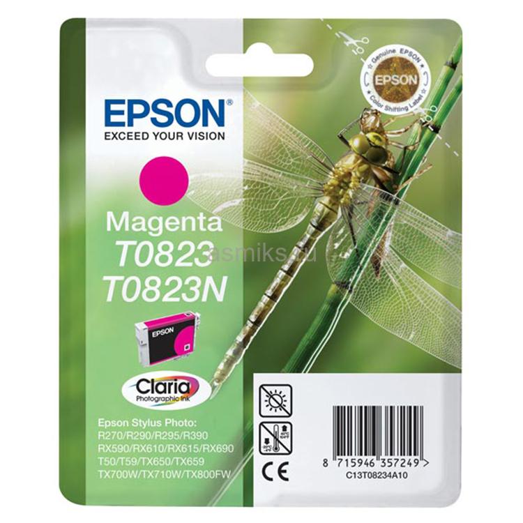 Струйный картридж Epson T0823 (Оригинальный, Пурпурный - Magenta) C13T11234A10