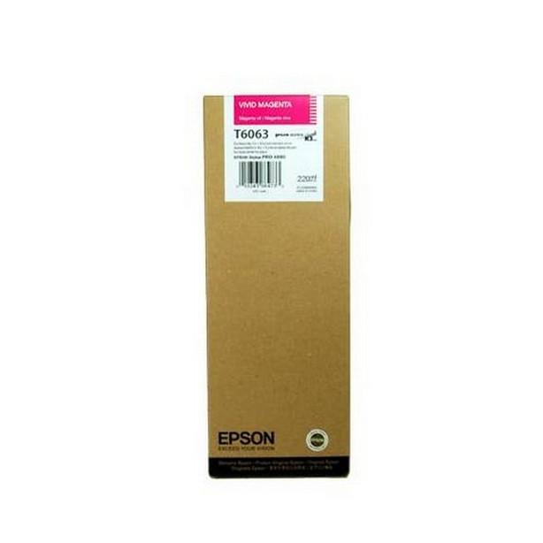 Струйный картридж Epson T6063 (Оригинальный, Пурпурный - Magenta) C13T606300