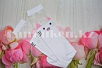 Детские гольфы с кошкой и розовыми ушками эластичные YY-818