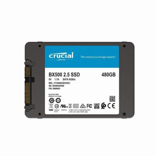 Жесткий диск внутренний Crucial BX 500  CT480BX500SSD1 (480Гб, SSD, 2,5″, Для ноутбуков, SATA) CT480BX500SSD1