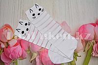 Детские гольфы с кошкой и черными ушками, полосатые в сеточку эластичные YY-818
