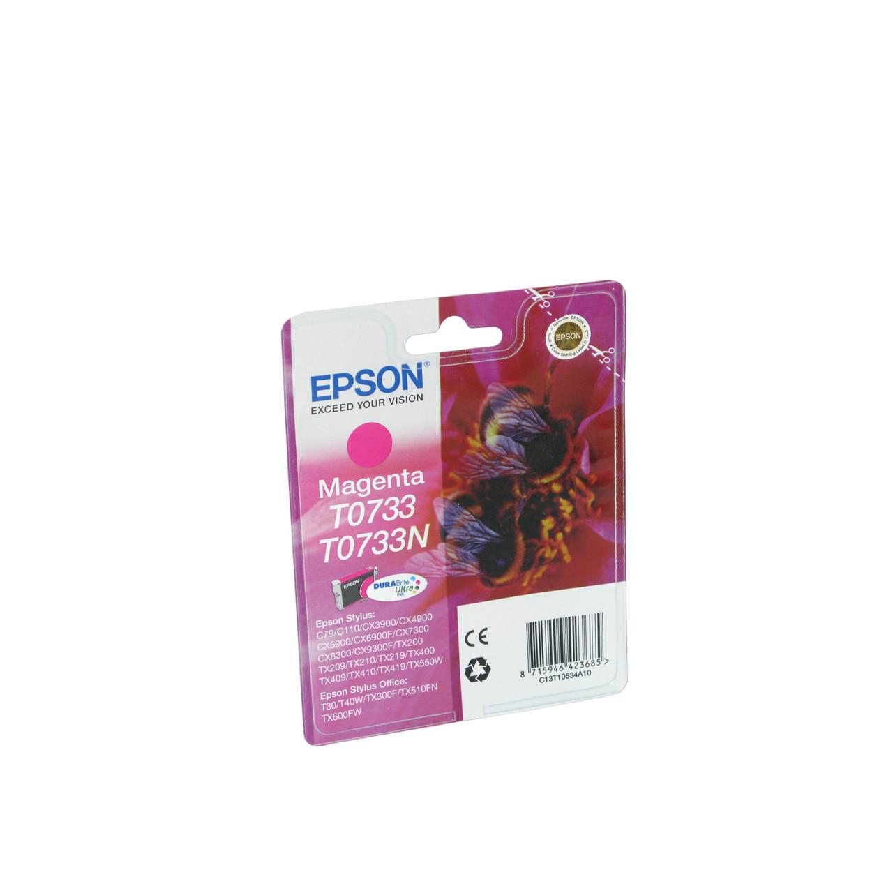 Струйный картридж Epson T0733 (Оригинальный Пурпурный - Magenta) C13T10534A10