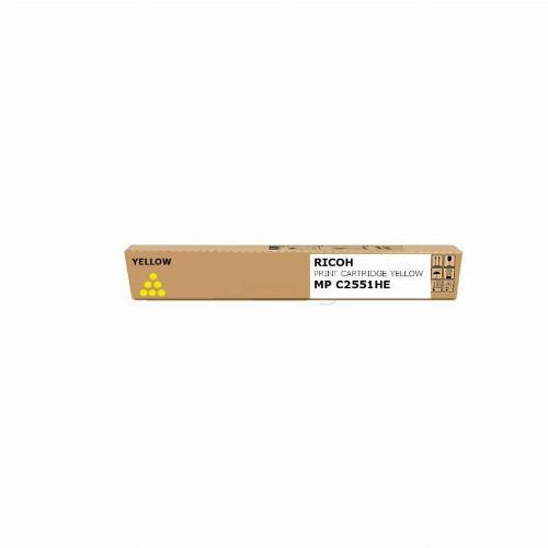 Тонер картридж Ricoh MP C2551he (Оригинальный Желтый - Yellow) 842062