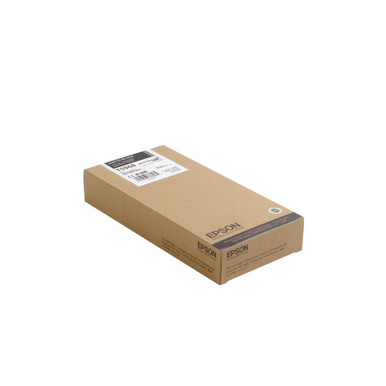 Струйный картридж Epson T5968 (Оригинальный, Матовый черный - Matte black) C13T596800