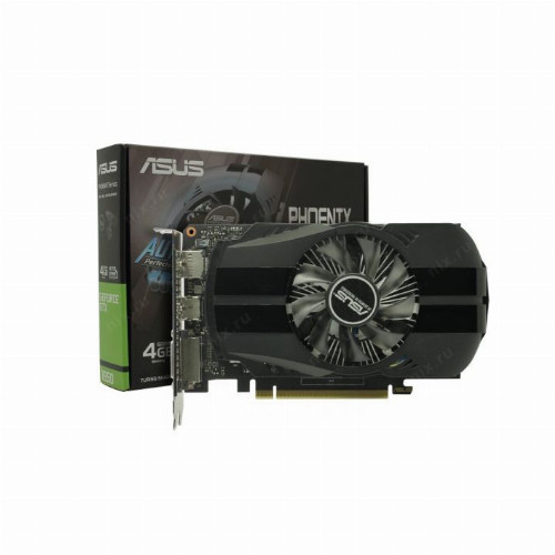 Видеокарта Asus Phoenix GeForce GTX1650 (Nvidia, 4 Гб, GDDR5, 128 бит, PCI-E 3.0 x 16, 1 x DVI-D, 1 x HDMI, 1 x Display port, Без дополнительного
