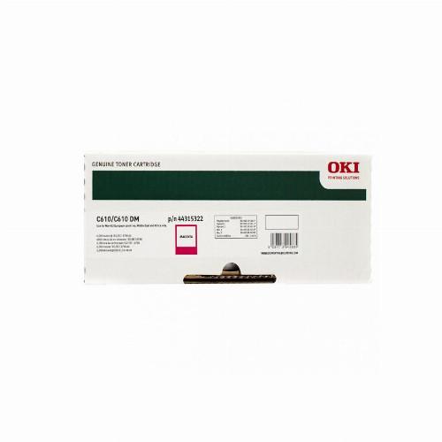 Тонер картридж Oki 44315322 для C610 (Оригинальный Пурпурный - Magenta) 44315322
