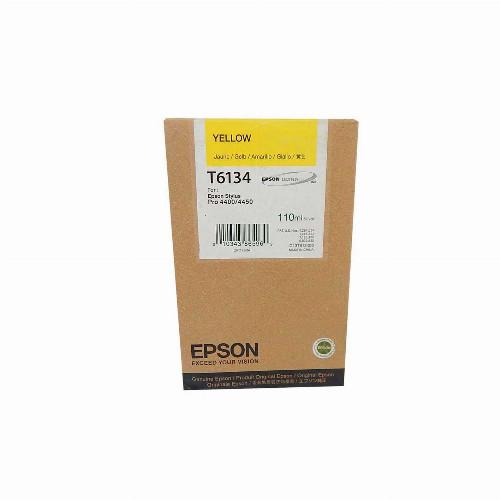 Струйный картридж Epson T6134 (Оригинальный, Желтый - Yellow) C13T613400