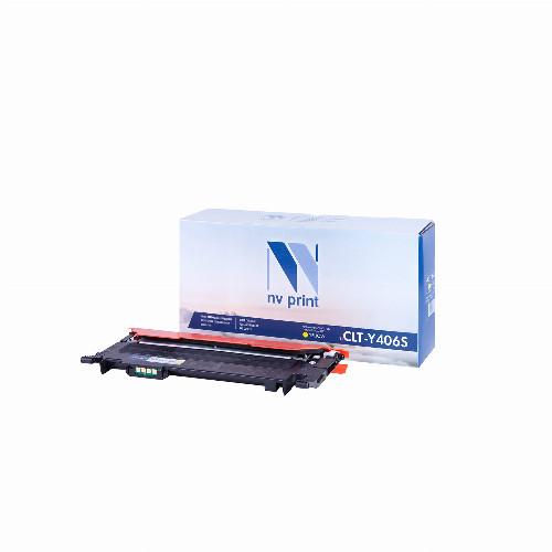 Лазерный картридж NV Print NV-CLT-Y406S (Совместимый (дубликат) Желтый - Yellow) NV-CLTY406SY