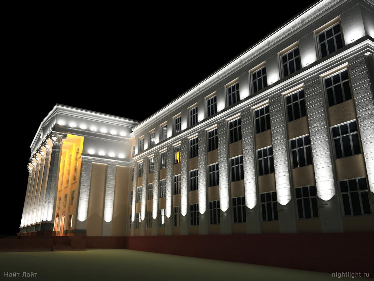 Led прожектор для колонн 24W, архитектурный с линзами, 8-10м. Светодиодный узконаправленный фасадный 24Ватт.