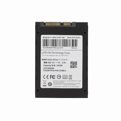 Жесткий диск внутренний LiteOn MU 3 PH6-CE240-L 240 Гб SSD 2.5″ SATA PH6-CE240-L