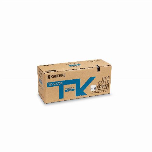 Тонер картридж Kyocera TK-5270C (Оригинальный Голубой - Cyan) 1T02TVCNL0