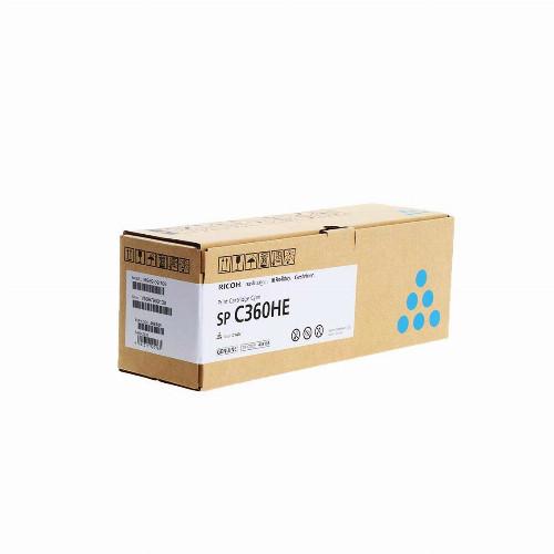 Тонер картридж Ricoh SP C360HE (Оригинальный Голубой - Cyan) 408185