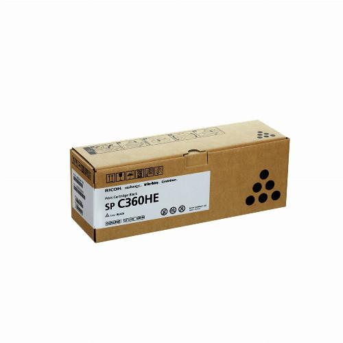 Тонер картридж Ricoh SP C360HE (Оригинальный Черный - Black) 408184