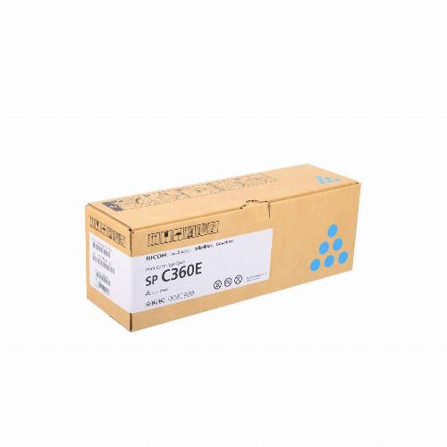 Лазерный картридж Ricoh SP C360E (Оригинальный Голубой - Cyan) 408189