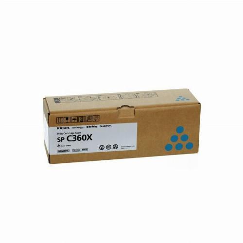 Лазерный картридж Ricoh SP C360X (Оригинальный Голубой - Cyan) 408251