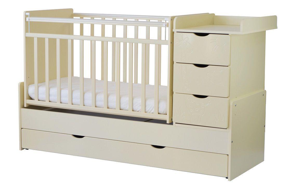 Детская кровать трансформер СКВ-5 Бежевый жираф